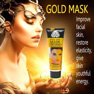 gold face lifting mask