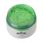 green hair color wax